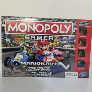 Monopoly Mario Cart Game with Figures in Go Karts
